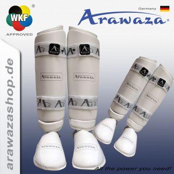 Arawaza Spann-/Schienbein Schutz PU - weiß